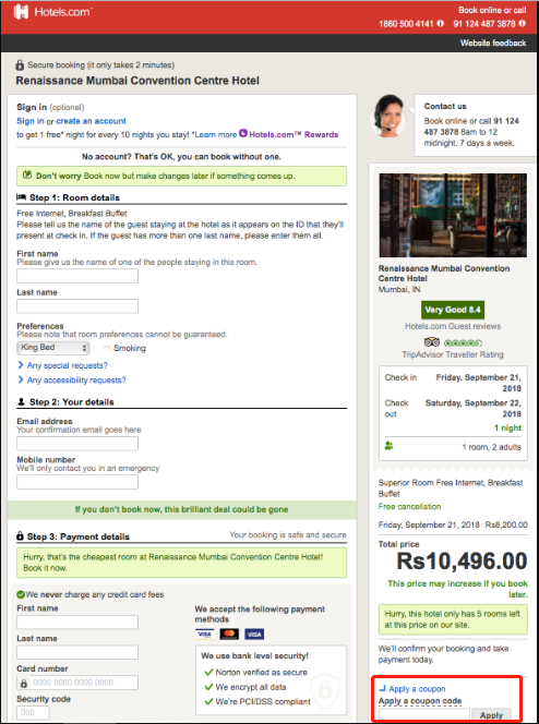 Hotels.com Coupons 01